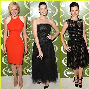 Elisabeth Moss & Jessica Pare: Variety Pre-Emmy Party!