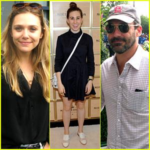Elizabeth Olsen & Jon Hamm: U.S. Open Labor Day Sightings!