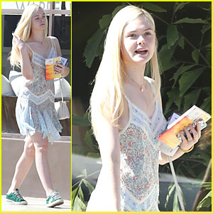 Elle Fanning Runs Errands with Mom Joy on Emmys Sunday!