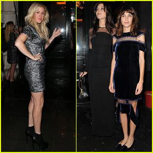 Ellie Goulding & Alexa Chung: 'British Vogue' LFW Dinner!