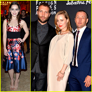 Emilia Clarke & Jai Courtney: HFPA/InStyle TIFF Party!