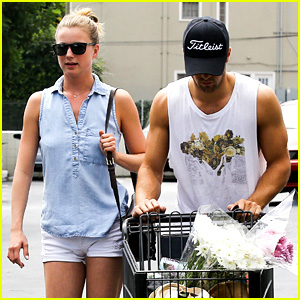 Emily VanCamp & Josh Bowman Get Groceries at Gelson's
