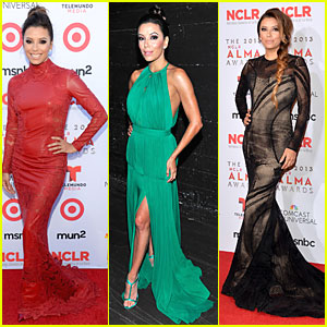 Eva Longoria: Multiple Dresses as NCLR ALMA Awards Host!