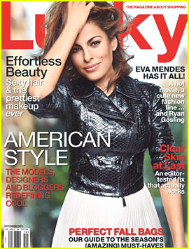 Eva Mendes Covers 'Lucky' October 2013