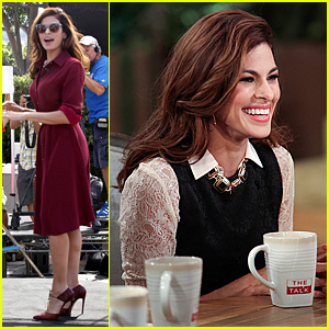 Eva Mendes Grades Her Past Fashion Choices on 'The Talk'