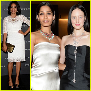 Freida Pinto & Rosario Dawson: Bulgari at Milan Fashion Week