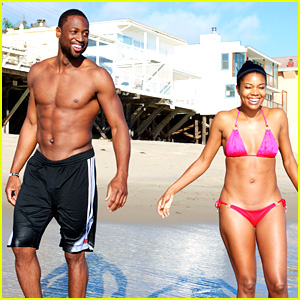 Gabrielle Union: Bikini Beach Babe with Shirtless Dwyane Wade!