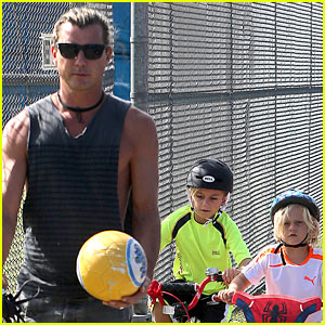 Gavin Rossdale Enjoys 'Beautiful Day' with Kids in Cali!