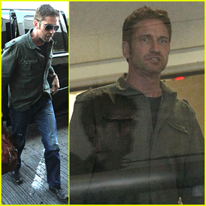 Gerard Butler Catches a Flight Out of Los Angeles