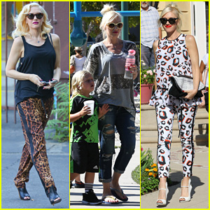 Gwen Stefani: Mommy Duties with Kingston and Zuma!