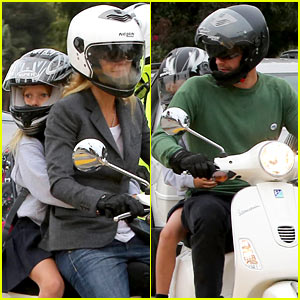 Gwyneth Paltrow & Chris Martin: Side by Side Scooter Rides!