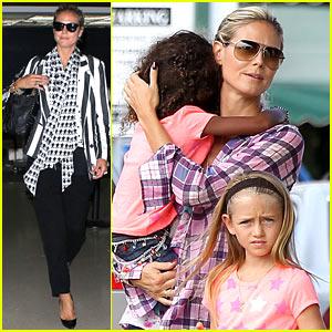 Heidi Klum Shops with Kids After New York Trip