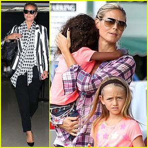 Heidi Klum Shops with Kids After New York Trip