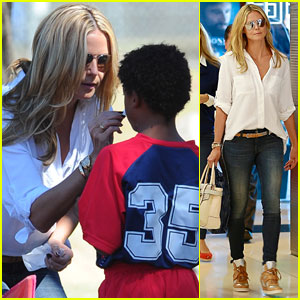 Heidi Klum Tends to Son Henry's Bloody Nose at Soccer Game