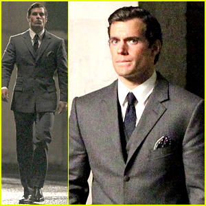 Henry Cavill Suits Up on 'Man from U.N.C.L.E.' Set!