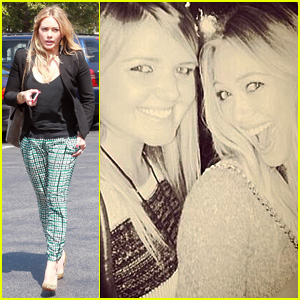 Hilary Duff: The Weeknd Concert Night Out!