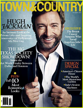 Hugh Jackman Covers 'Town & Country' October 2013