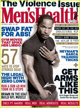 Jamie Foxx Covers 'Men's Health UK' October 2013
