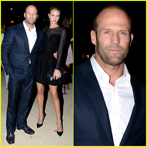 Jason Statham & Rosie Huntington-Whiteley: Azzedine Alaia Paris Fashion Show!