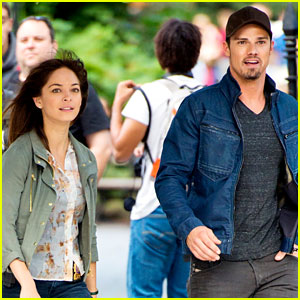 Jay Ryan & Kristin Kreuk Film 'Beauty and the Beast' in NYC