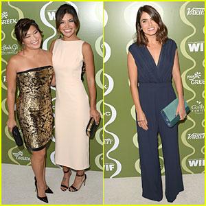 Jenna Ushkowitz & Jessica Szohr: Variety Pre-Emmy Party!