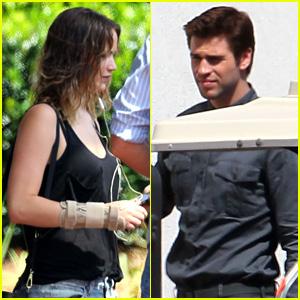 Jennifer Lawrence & Liam Hemsworth: 'Mockingjay' Filming!