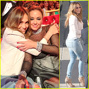 Jennifer Lopez Supports Leah Remini on 'DWTS'!