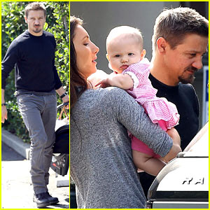 Jeremy Renner Debuts Adorable Baby Daughter Ava!