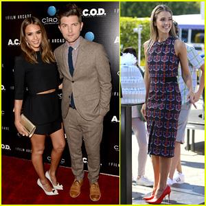 Jessica Alba & Adam Scott: 'A.C.O.D.' Los Angeles Premiere!