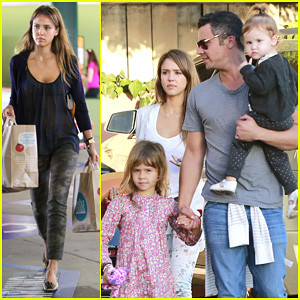 Jessica Alba & Cash Warren: Family Birthday Party Outing!