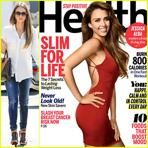 Jessica Alba Covers 'Health', Talks Cellulite on Thighs