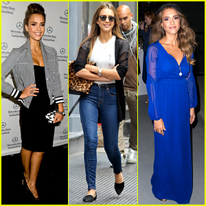 Jessica Alba Rocks Several Outfits for New York Fashion Week