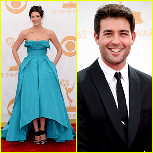 Jessica Pare & James Wolk - Emmys 2013 Red Carpet
