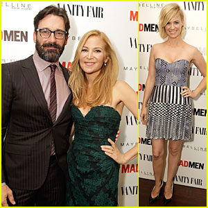 Jon Hamm & January Jones: 'Vanity Fair' Toast to 'Mad Men'!
