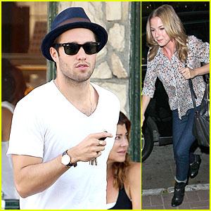Josh Bowman & Emily VanCamp: Separate Food Outings!