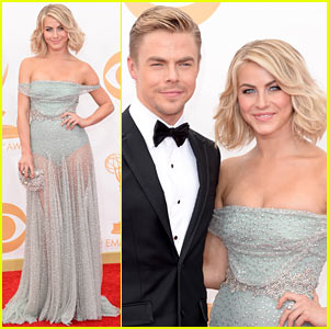 Julianne Hough: Emmys 2013 Red Carpet with Brother Derek!