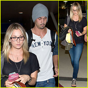 Kaley Cuoco & Ryan Sweeting Depart LAX Airport Together!
