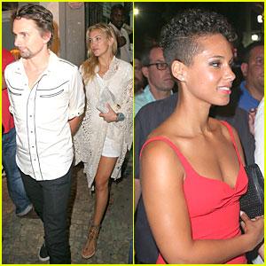 Kate Hudson & Matthew Bellamy Catch Up with Alicia Keys!