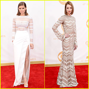 Kate Mara & Kristen Connolly - Emmys 2013 Red Carpet