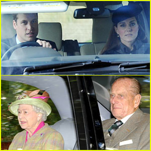 Kate Middleton & Prince William Drive Away After Church!