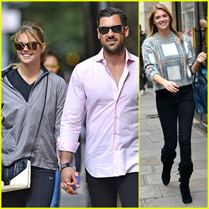 Kate Upton Holds Hands with DWTS' Maksim Chmerkovskiy!