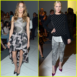 Katie Cassidy & Brittany Snow: Front Row at Lela Rose Fashion Show
