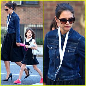 Katie Holmes: Morning Stroll with Suri After Trying Cronuts!
