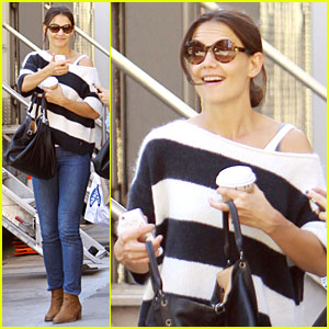 Katie Holmes Shows Stripes After NYFW!