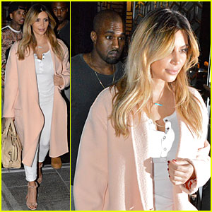 Kim Kardashian Sports Blonde Hair For Dinner with Kanye West!