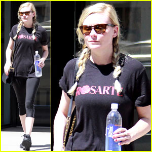 Kirsten Dunst Hits the Tracy Anderson Gym
