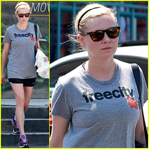 Kirsten Dunst is a Freecity Workout Gal!