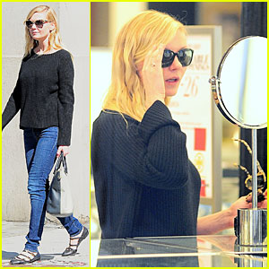 Kirsten Dunst Shops For Sunglasses in NYC!