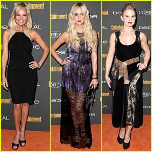 Kristin Chenoweth & Ashlee Simpson: EW Pre-Emmy Party!