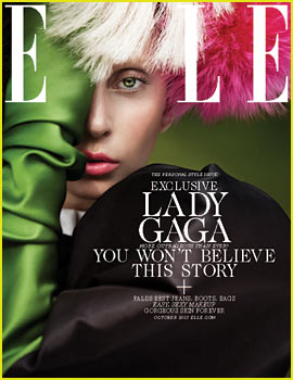 Lady Gaga Covers 'Elle' October 2013